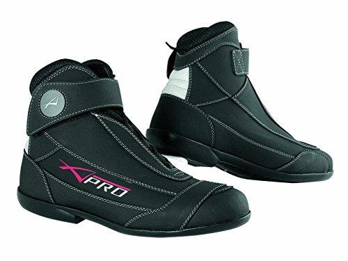 A-pro Chaussures Moto Motard Cuir Textile Bottes Roadster Renforcées Noir 40
