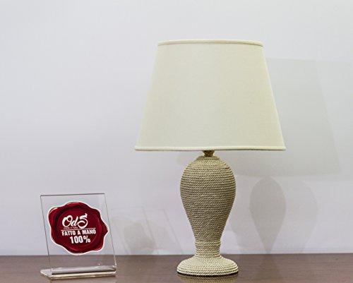 Nachttisch Tischlampen, in Keramik bedeckt. Made in Italy - Höhe 53 cm