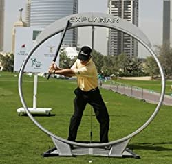 A picture of the Explanar Golf Swing trainer. This training aid helps golfers improve their swing path