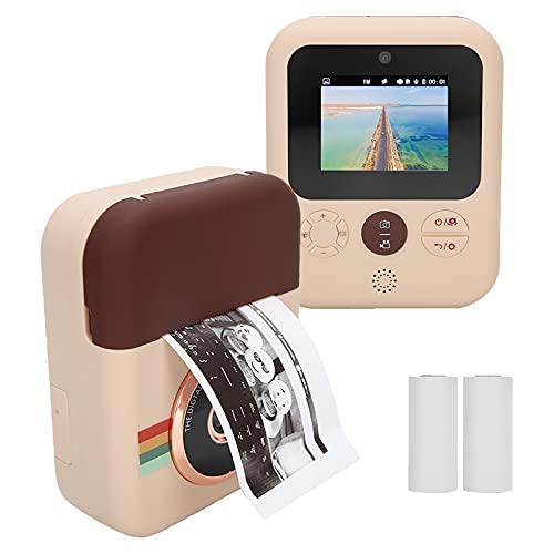 Goshyda Cámara de impresión para niños, videocámara instantánea con grabación de Video Digital con Papel térmico y batería de 1500 mAh para Viajes, Aprendizaje, Regalo de cumpleaños