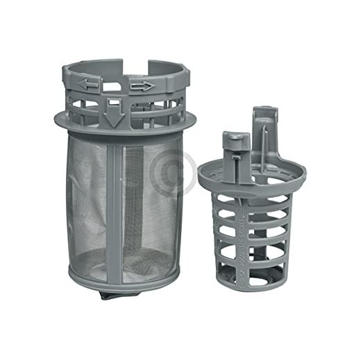 DL-pro Filtro fino para Beko 1740800500 Whirlpool Bauknecht 481248058413, filtro grueso de 2 piezas para lavavajillas DSN DIN GSN