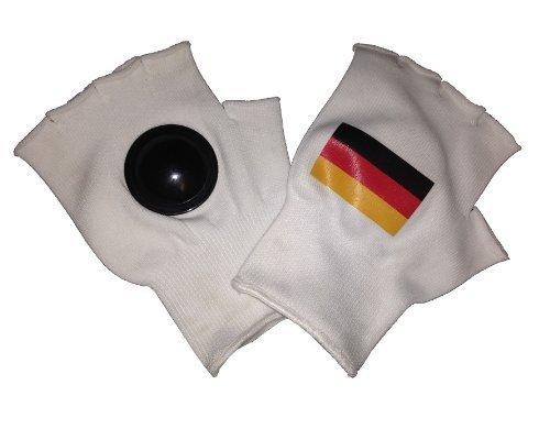trends4cents Clip-Clappers klappen handschoenen met Duitse vlag, maat Uni fanartikel voetbal WM EM Support Fan