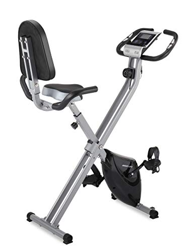 IDEER Folding Exercise Bike,Foldable Magnetic Upright Exercise Bike with 8 Resistance Levels,Heart...