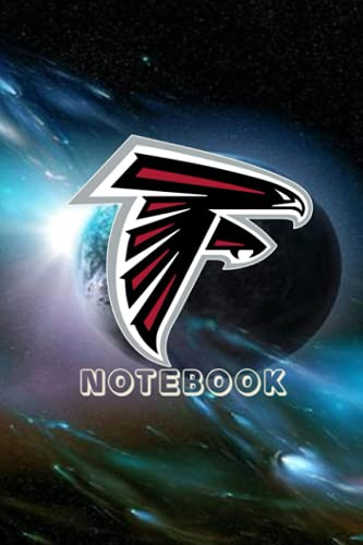 Football Notebook : Atlanta Falcons Daily Planner Notebook For Sport Fan Thankgiving , Christmas Gift Ideas Type #14