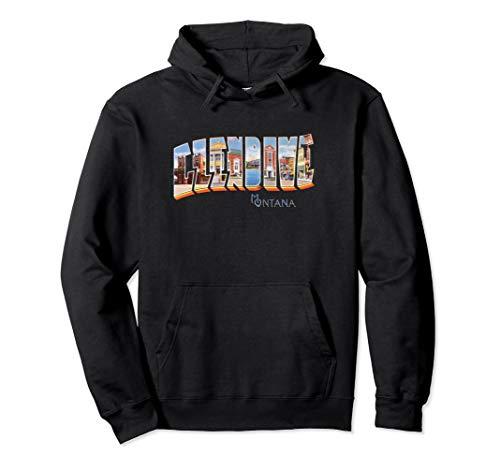 Glendive Montana MT Vintage Retro-Souvenir Pullover Hoodie