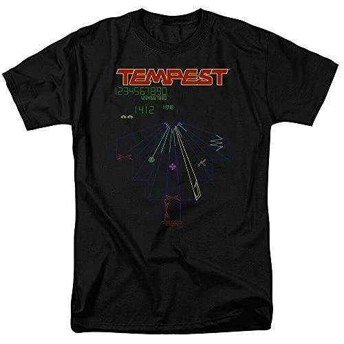 Atari Tempest Screen T Shirt Mens Classic Video Game Tee Black Red 3XL