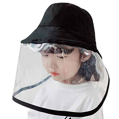 Bangcool zonnehoeden, emmer hoed creatieve gezicht schild hoed visser pet outdoor zon hoed voor kind volwassen for Kid Zwart
