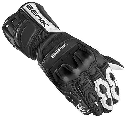 Berik Track Plus Motorradhandschuhe Schwarz/Weiß XL
