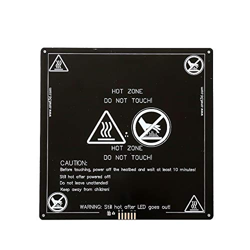 Anet Aluminum MK2 MK3 12V Heated Bed Hotbed Upgrade for Anet A8 A6 3D Printer, Black 220x220mm