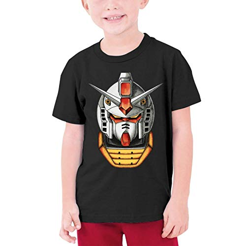 XCNGG Niños Tops Camisetas Gundam Classice Black Other Boys and Girls Short Sleeve T-Shirts, Youth T-Shirts