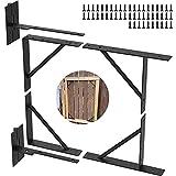 Gate Frame Kit Heavy Duty Adjustable No Sag Gate Kit for Wooden Easy Gate Bracket Gate Corner Brace Bracket Durable Solid Iron for Shed Doors, Corral Gates, Driveway Gates, Wood Windows