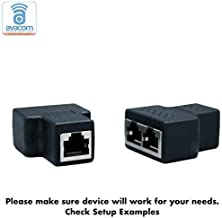 AVACOM RJ45 Multiplex/Splitter Adapter, Female Socket Interface, Ethernet Cable 8P8C Coupler, Keystone Jack, Extender Plug, Ethernet LAN Network Connector (1 Pair, 1 PCS Multiplexer + 1 PCS Splitter)
