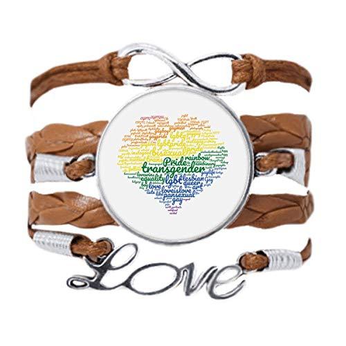 DIYthinker - Pulsera con forma de corazón arcoíris LGBT
