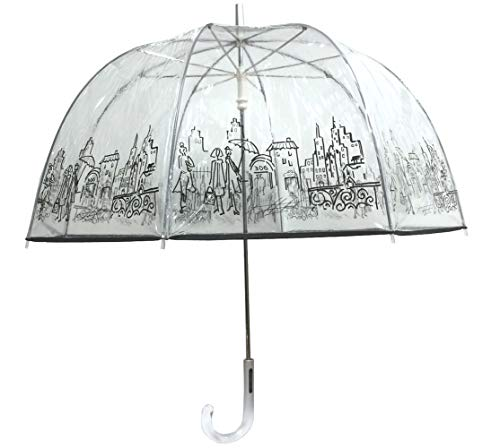 London Fog Clear Umbrella, City, One Size