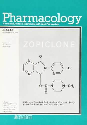 Zopiclone: A Third Generation of Hypnotics: Symposium at the 13th CINP Congress, Jerusalem 1982: Proceedings. Supplement Issue: Pharmacology 1983, ... and Clinical Pharmacology, Supplement 2)
