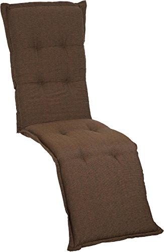 Beo RE Nizza P202 Premium Serie P202-Cojín para Silla de jardín, marrón Oscuro, ca. 170 cm x Breite ca. 52 cm x Dicke ca. 8 cm