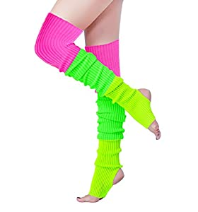 💕V28 is the ONLY Supplier using Germany machine with extra elastic yarn to knit this Leg Warmer, which give it extra Shining, Elasticity and could Last Years. 💕Colorful Neon Leg Warmers Are Made of 80% Viscose 20% Nylon . Length: 32''(81cm) ,Elastic ...