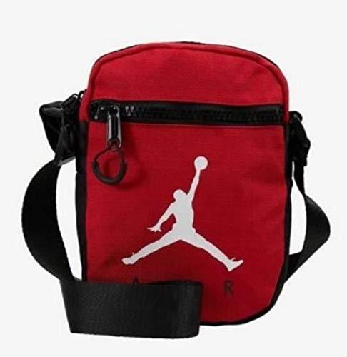 Jordan Jumpman Air Festival - Bolso para hombre, color rojo y negro