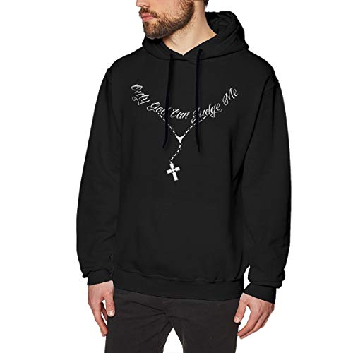 MYHL Men's Only God Can Judge Me Graphic Fashion Sport Hip Hop Hoodie Sweatshirt Pullover Tops