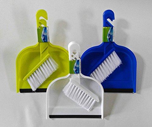 Set de 3o 6polvo sartenes con reborde de goma y cepillo (Mini) Set, varios colores 41009P-3pk, Variados, 3