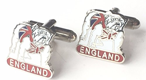 Personnalisé Angleterre British Bull Dog en émail Boutons de manchette Huppé (N195)