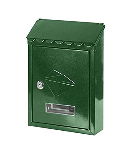 kippen 10004BV Buzón de acero pintado de color verde, 0 V