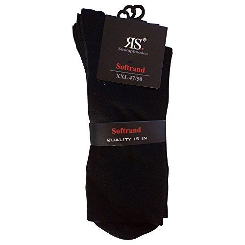 6 Paar Socken Pia RS Harmony Herrensocken ohne Naht Softrand (43-46, Schwarz)