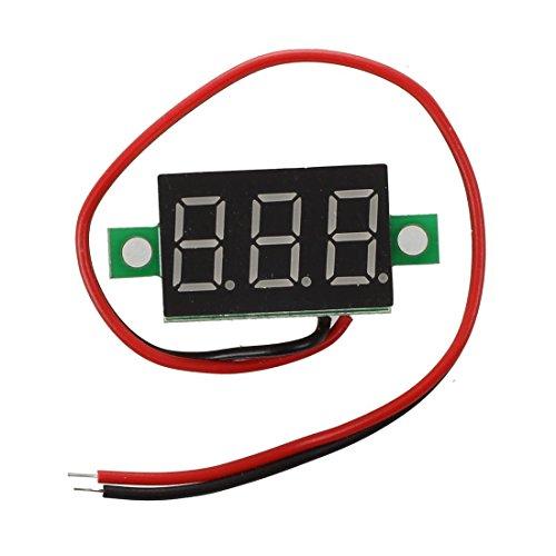 SODIAL Car Voltmetro LED Digitale Impermeabile per Moto 12V-24V Dc Blu