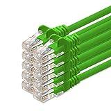 Cable de red de 0,25 m – verde, 10 unidades, cable de red Cat 5, cable Ethernet compatible con CAT5e, CAT6, CAT6a, Cat7, Cat8, para router, módem, Internet, Smart TV, Xbox
