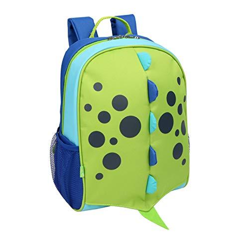 Yodo Little Kids School Bag Pre-K Toddler Backpack - Reflective Ridge, Name Tag and Chest Strap, Dinosaur
