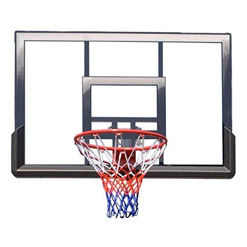 Ff Llantas de Baloncesto Goal Hanging Hoop Baloncesto Adulto Montado en la Pared Sólido Tablero de Baloncesto Pc Board Outdoor Motion 112X81Cm Juego de Deportes