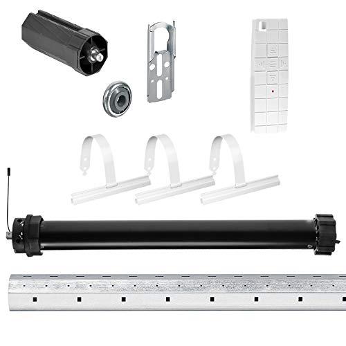 NOBILY *** Rolladen-Komplett-Set f. 60mm Achtkantwelle Mechanischer Funk Maxi-Rolladenmotor 10Nm + Mechanik-Set mit 100cm Welle