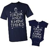 Retta I Drink and I Know Things - Conjunto de Camiseta y Body a Juego para Hombre - Azul - Hombres:XXL/bebé:18 Meses