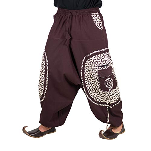KUNST EN MAGIE trendy harembroek kleurrijk patroon Goa Hippie broek