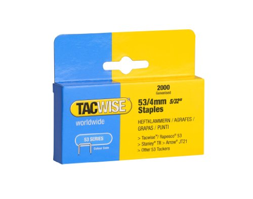Tacwise 0333 Punti Zincati, 53 4 mm, Set di 2000 Pezzi