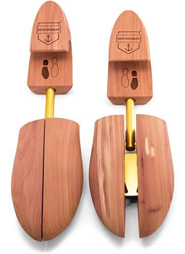 HOUNDSBAY Pointer Horma de cedro para hombres con tacón ancho y punta dividida ajustable