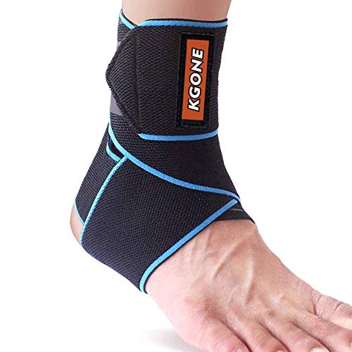 KGONE Adjustable Ankle Support, Ankle Brace Breathable Nylon Elastic Material...