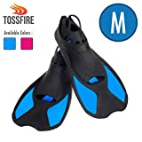 Comfecto Flippers Fins Short Floating Training Swimming Fins Adults for Size M...