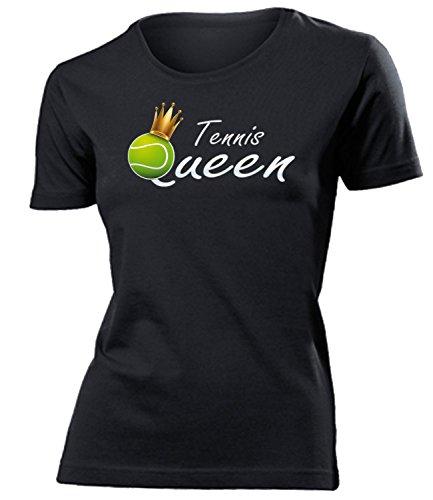Tennis Queen Geburtstag Geschenke Damen Frauen t Shirt Tshirt t-Shirt zubehör Sport Trikot Fan Fanartikel Fanshirt Bekleidung Oberteil Hemd Kleidung Outfit Spruch Fun witzig Artikel