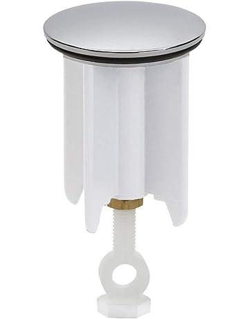 Bianco iwobi 2 pezzi Tappo Vasca da Bagno,Tappo Lavandino Silicone 15,2 cm Universale Spina per Lavandino