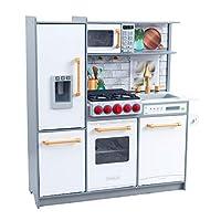 KidKraft 53437 Spielküche Uptown Elite White mit EZ Kraft Assembly und Licht- und Soundeffekten