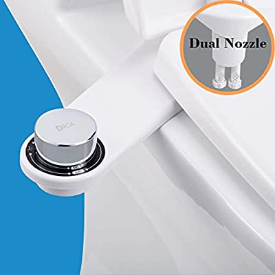 ORCA Bidet, Bidet Attachment, Toilet Seat Attachment, Water Spray Bidet For Toilet, Dual Nozzles With Feminine Wash, Non-Electric, Easy to Install, Contemporary Design-1Pack