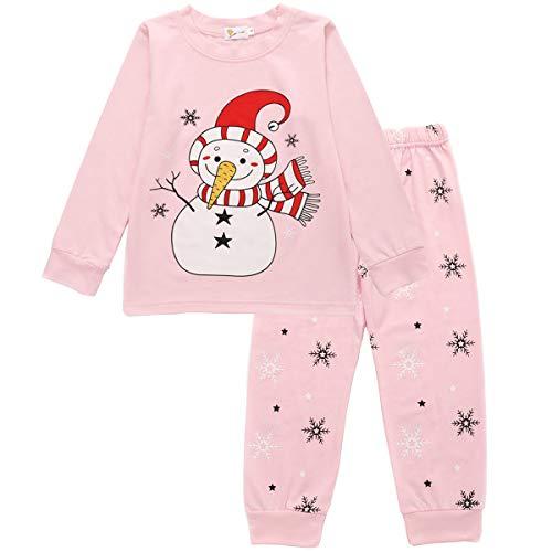 1-7 a/ños LITTLE HAND Pijama de Navidad Dos Piezas ni/ños ni/ñas Pijama patr/ón de Renos