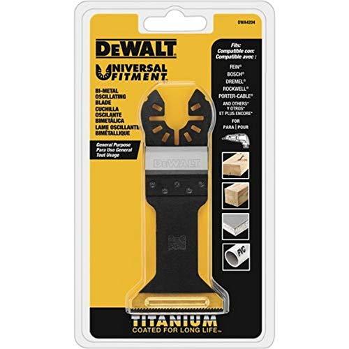 Lâmina de ferramenta oscilante Dewalt para madeira com unhas, largo, titânio (DWA4204)