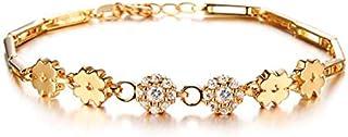 OPK Copper Plating 18K Gold Fashion Women Sweet Cubic Zirconia Bracelet For Wedding Gift
