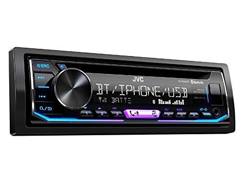 JVC KDR992BT 1-Din Radio CD Bluetooth Spotify Variocolor inkl Einbauset für Peugeot 206 + 206 CC 1998-2007