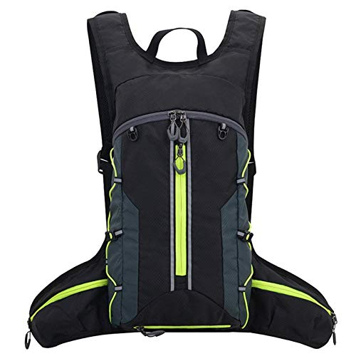 BEDSETS Running Backpack Lightweight Breathable 2L Water Bladder Cycling Backpack Functional Gift for Men & Women Daily Commutes Cycling Jogging Hiking Cycling Backpack (Black B)