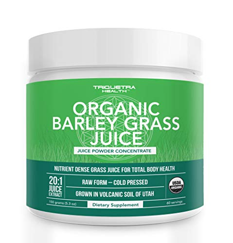 Organic Barley Grass Juice Powder - Grown in Volcanic Soil of Utah - Raw & BioActive Form, Cold-Pressed then CO2 Dried - Complements Wheatgrass Juice Powder - 5.3 oz