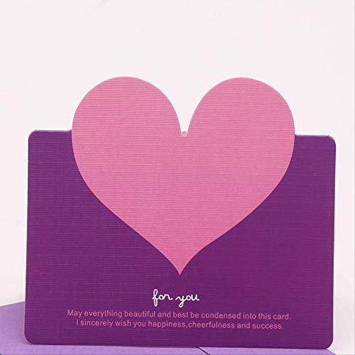 Wenskaarten BLTLYX 10 stks/zak Gemengde kleur Liefde Hartvorm Wenskaart Valentijnsdag Cadeaukaart Trouwkaarten Kaart Romantisch bedankkaarten 9.8 * 8.6cm Zoals afgebeeld