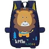 ZIZAIXING Mochila Infantil mochila preescolar León lindo niños y niñas útiles escolares o de jardín de infantes(Azul-4
